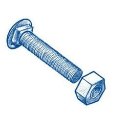 MASTER HALCO HOT DIP GALVANIZED CARRIAGE BOLT