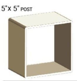 "VEKA 5"" X 5"" VINYL POST PROFILE (0.165"" WALL)"