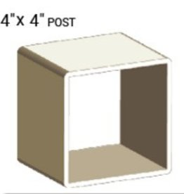 "VEKA 4"" X 4"" VINYL POST PROFILE (0.160"" WALL)"
