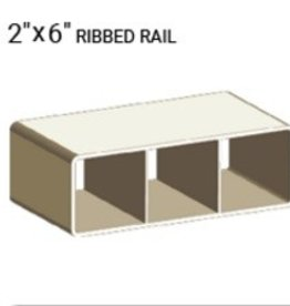 "VEKA 2"" x 6"" RIBBED RAIL PROFILE ( 0.090"" WALL)"