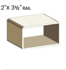 "VEKA 2"" x 3 1/2"" Vinyl Rail Profile (0.120 wall)"