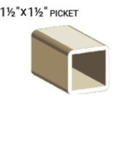 "VEKA 1 1/2"" X 1 1/2"" X 192"" PICKET PROFILE"