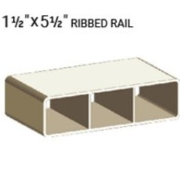 "VEKA 1 1/2"" X 5 1/2"" VINYL RANCH RAIL PROFILE (0.090"" WALL)"