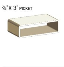 "VEKA 7/8"" X 3"" VINYL PICKET PROFILE (0.080"" WALL)"