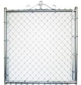 "SWI Residential Gate, Welded Frame, 11 Ga x 2"" Chain Link"