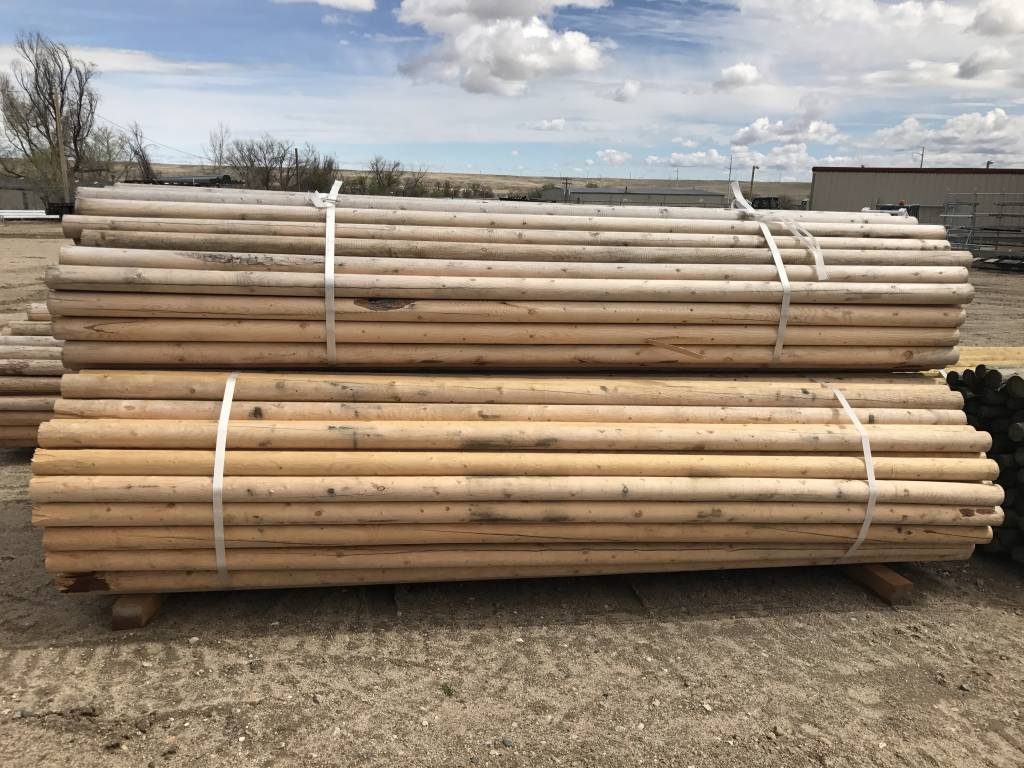 SWI PEELED UNTREATED FENCE RAILS/ CORRAL POLES