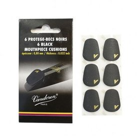 Vandoren VMCX6 Mouthpiece Cushions 6-Pack - Black