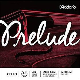 """D'Addario D'Addario Prelude Steelcore Cello Strings - 4/4 """"D"""" String/Medium"""