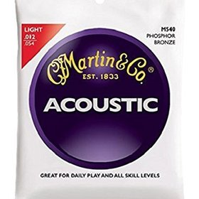 Martin M540 Acoustic Guitar Strings - Phosphor Bronze/Light, 92/8