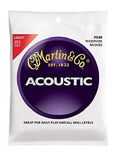 Martin M540 Acoustic Guitar Strings - Phosphor Bronze/Light, 92/8