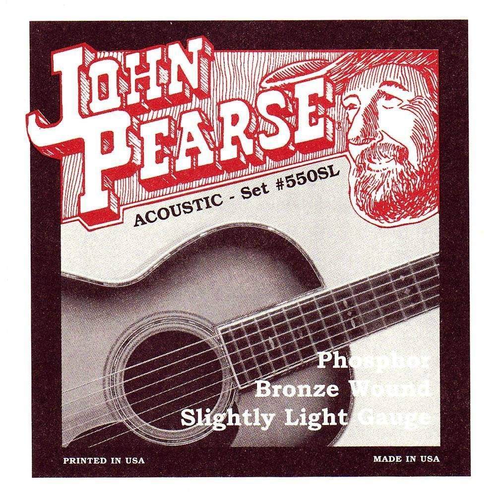 John Pearse Acoustic Guitar Strings - Phosphor Bronze/Slightly Light
