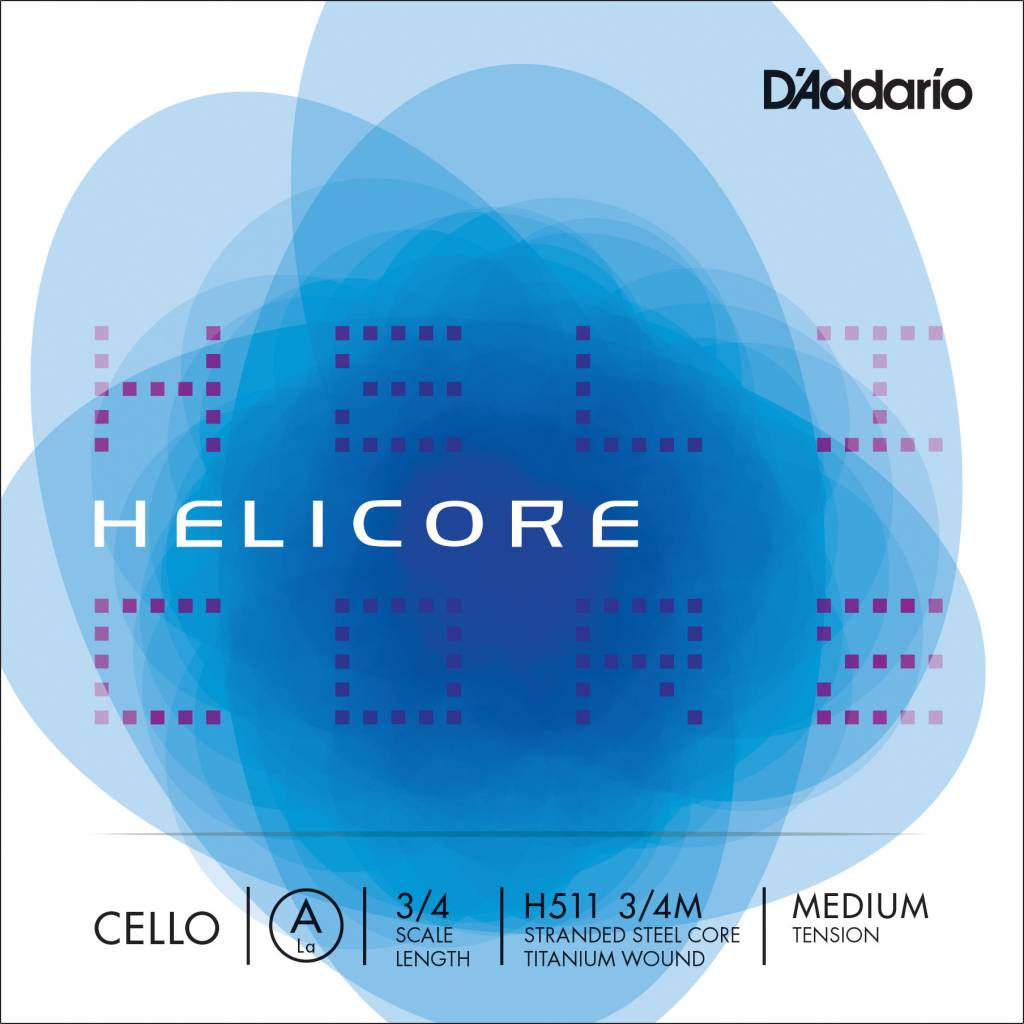 "D'Addario D'Addario Helicore Cello Strings - 3/4 ""A"" String/Medium"