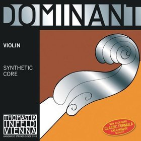 "Thomastik Dominant Violin Strings - 129 4/4 ""E"" String Plain/Steel Ballend"