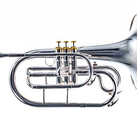 System Blue System Blue Professional Marching F Mellophone SB20S - Silver