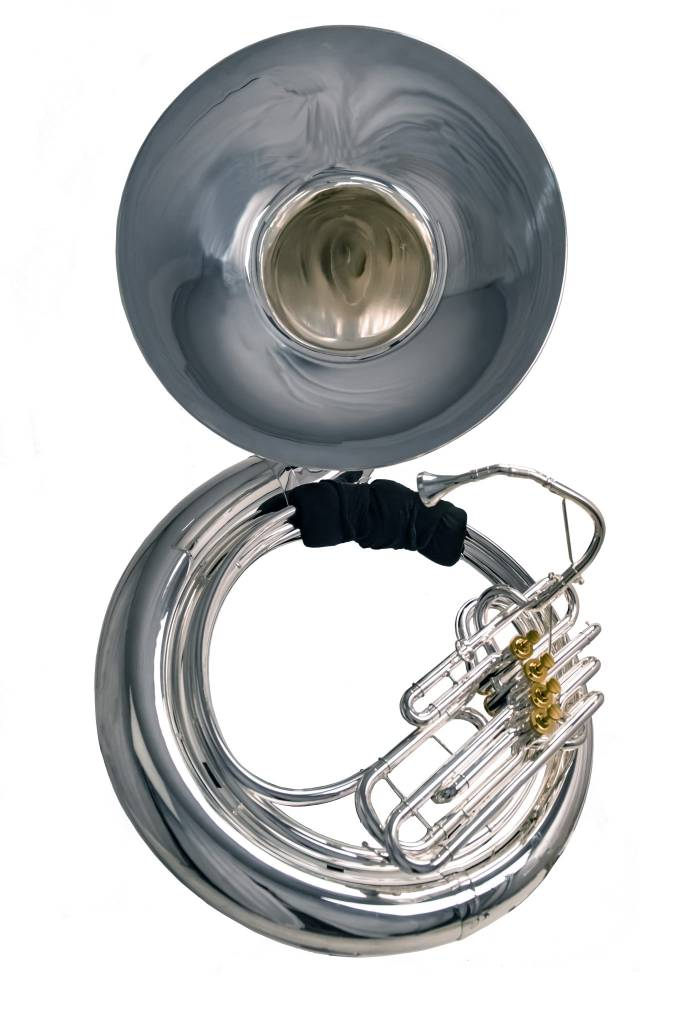 System Blue System Blue Professional Marching BBb Sousaphone SB55S - Silver 4 Valve