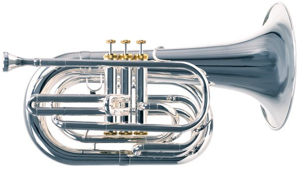 System Blue System Blue Professional Marching Bb Baritone SB25S - Silver