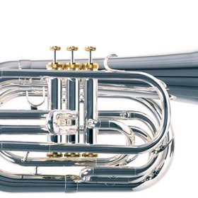 System Blue System Blue Professional Marching Bb Baritone SB25S - Silver (Long Shank)