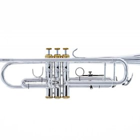 System Blue System Blue Traditional Marching Bb Trumpet SB12S-LE - Silver