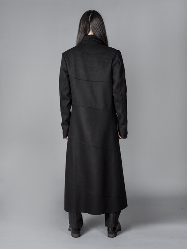 MA  MA  MEN UNLINED EXTRA LONG SPIRAL BODY COAT - Atelier New York