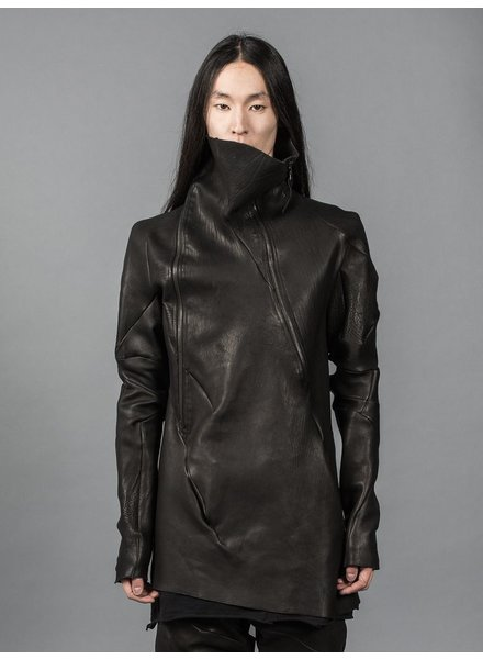 LEON EMANUEL BLANCK LEON EMANUEL BLANCK LEATHER TURTLENECK JACKET