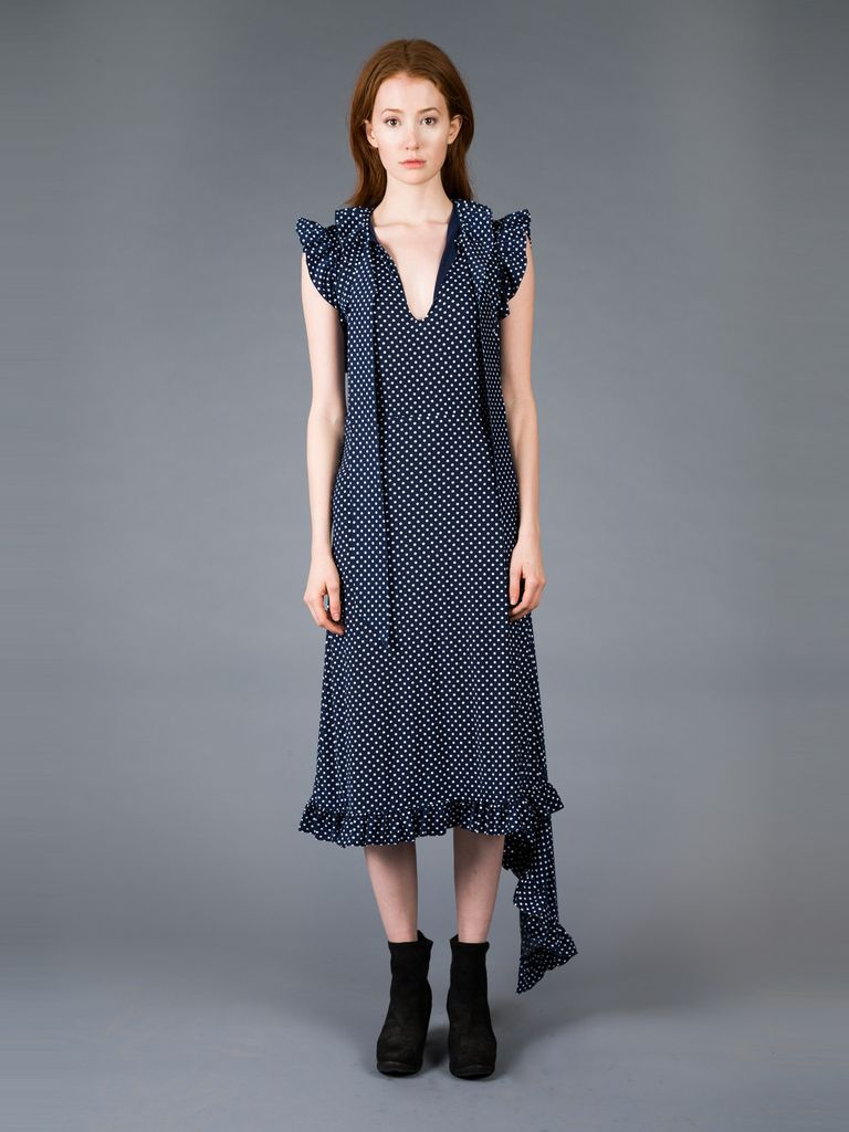 VETEMENTS VETEMENTS SLEEVELESS PANEL DRESS