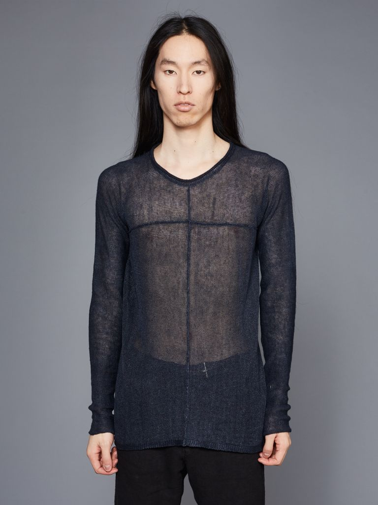 MA+ MA+ ROUND NECK CROSS PULLOVER