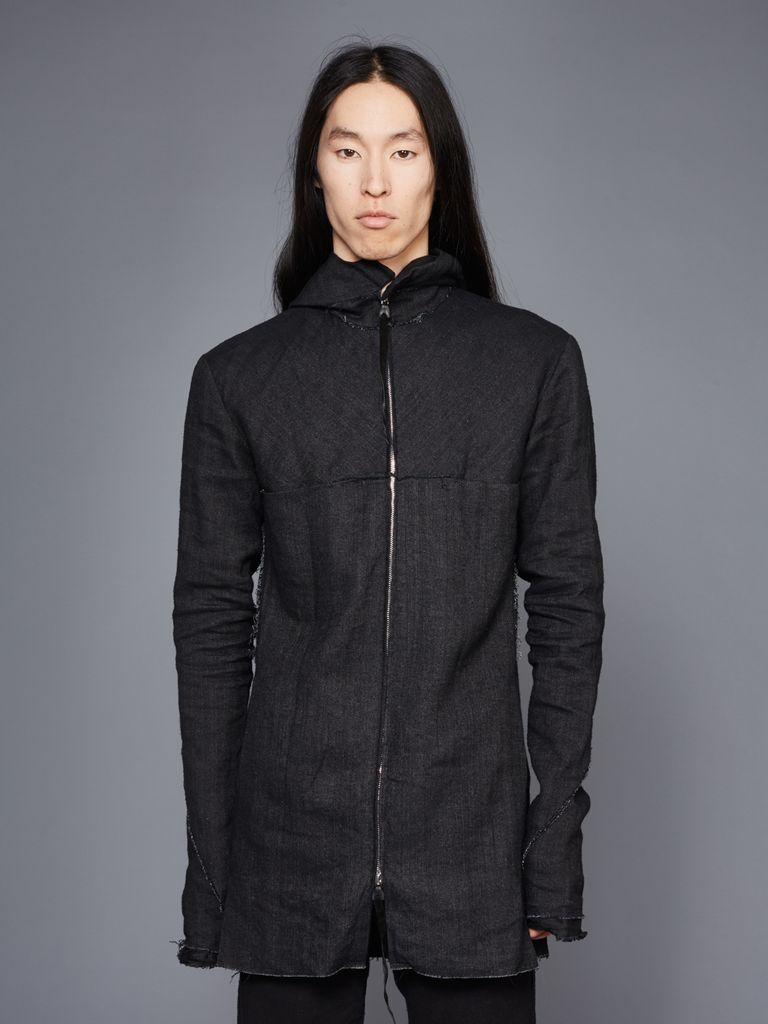 MA+ MA+ MEN LONG HOODED ZIPPED JACKET
