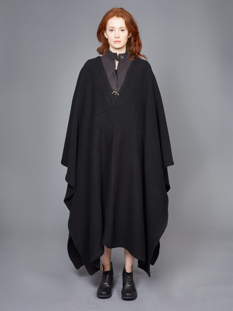 MA+ MA+ KNITTED EXTRA LONG PONCHO SKIRT
