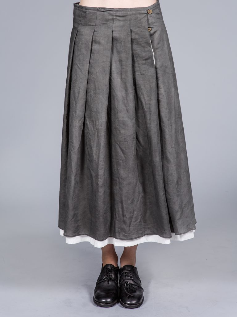 A DICIANNOVEVENTITRE A1923 WOMEN DOUBLE LAYER SKIRT