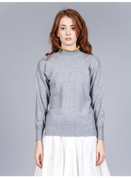 RENLI SU RENLI SU WOMEN RIBBED NECK AND CUFF CASHMERE SWEATER