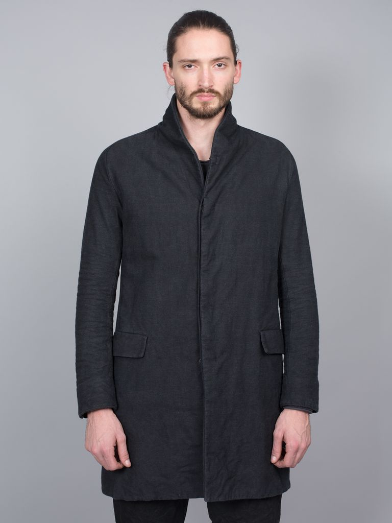 LAYER-0 LAYER-0 MEN BUTTON FRONT COAT