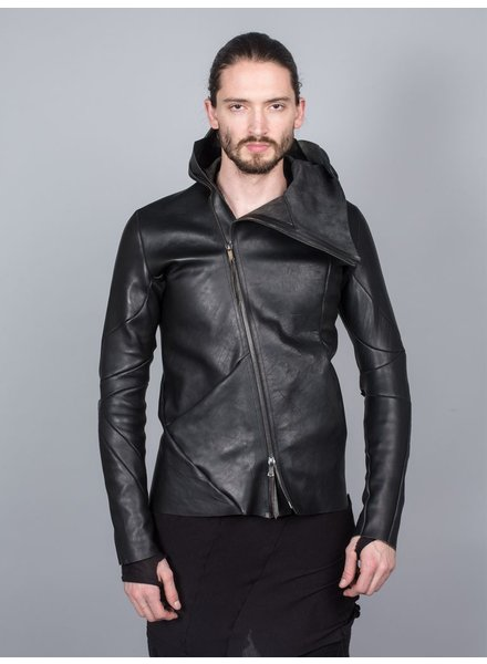 LEON EMANUEL BLANCK LEON EMANUEL BLANCK DISTORTION LEATHER JACKET GUIDI CALF LEATHER