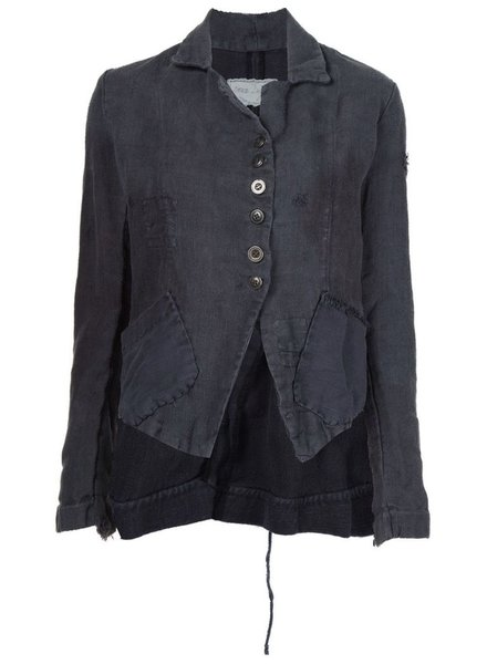 GREG LAUREN GREG LAUREN WOMEN HAND DYED ANTIQUE HEMP BUTTON FRONT DICKENS