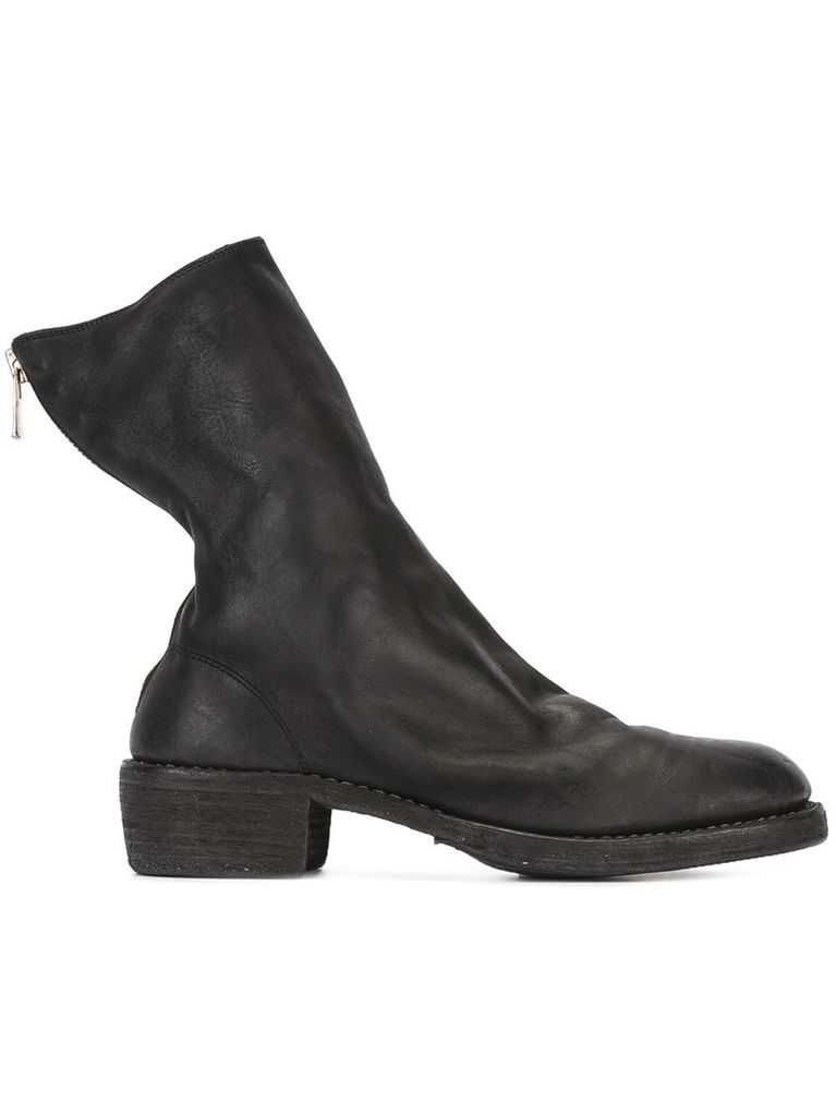 GUIDI GUIDI HORSE LEATHER BACK ZIP BOOT