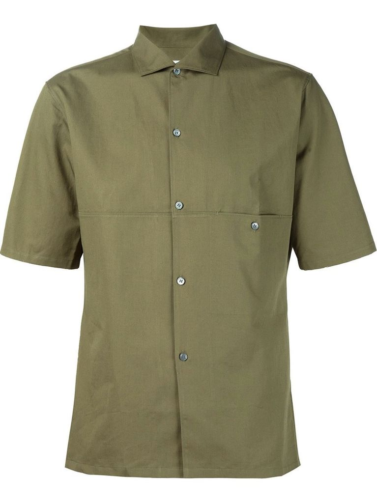 LEMAIRE LEMAIRE MEN SHORT SLEEVED SPREAD COLLAR SHIRT