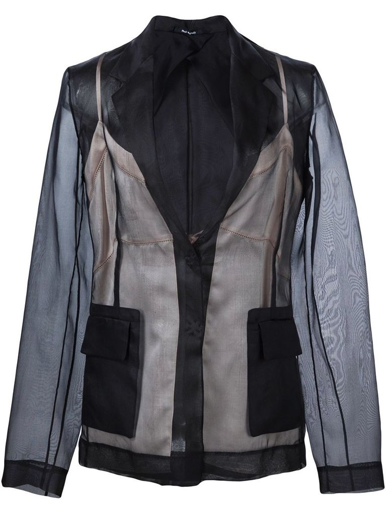 MAISON MARGIELA MAISON MARGIELA WOMEN TRANSLUCENT LAYER SILK JACKET