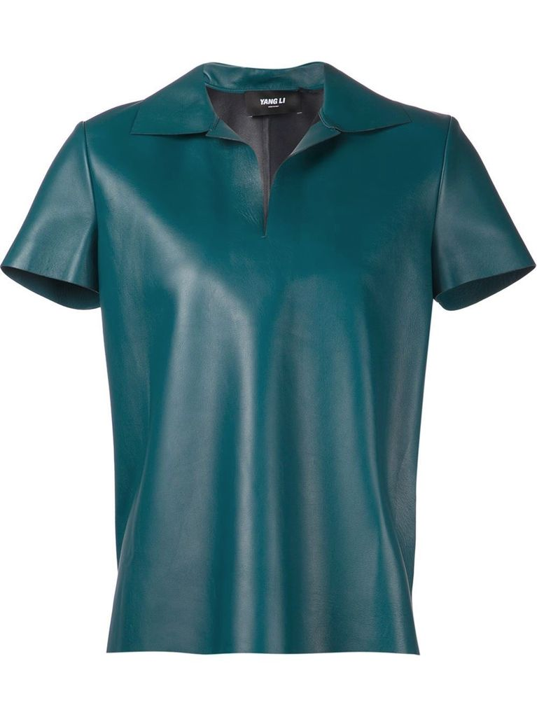YANG LI YANG LI WOMEN LEATHER POLO