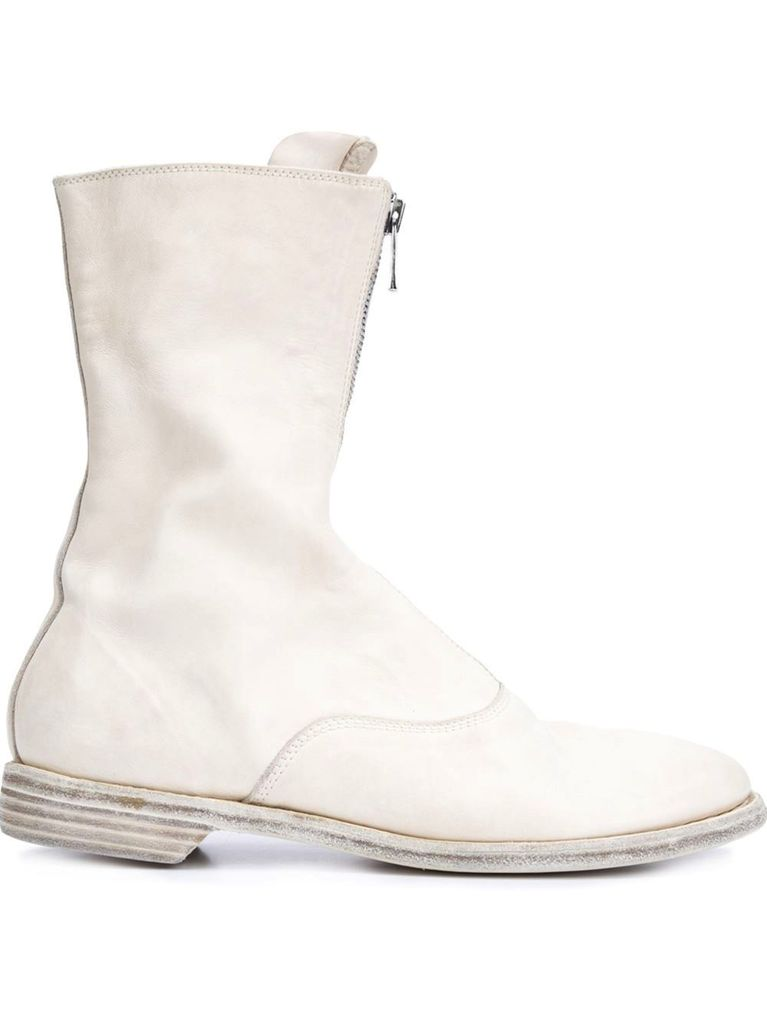 GUIDI GUIDI HORSE LEATHER FRONT ZIP BOOT