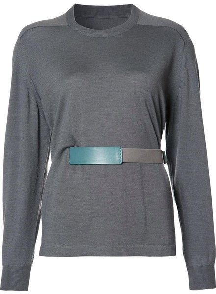 MAISON MARGIELA MAISON MARGIELA AVANT PREMIERE WOMEN WOOL KNIT PULLOVER WITH BELT