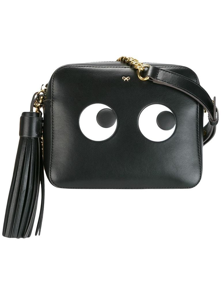 ANYA HINDMARCH WOMEN CROSSBODY BAG EYES RIGHT IN BLACK CIRCUS