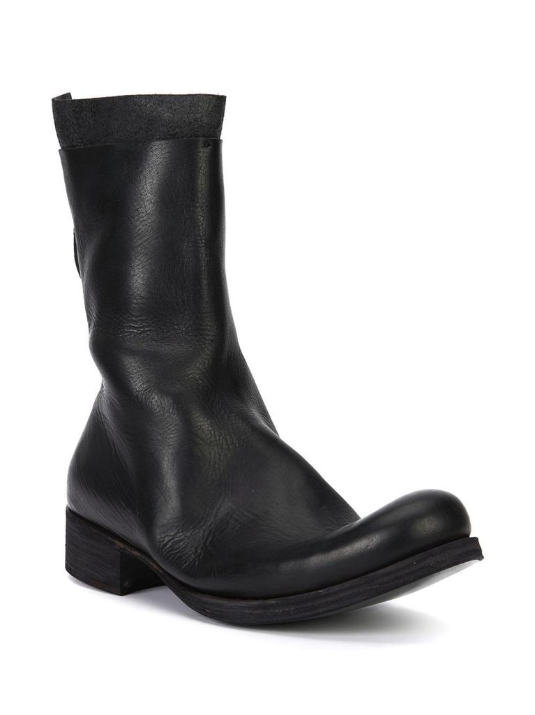 MA+ MA+ MEN YAK LEATHER BACK ZIPPED TALL EXTRA BOOT WITH EX HEEL