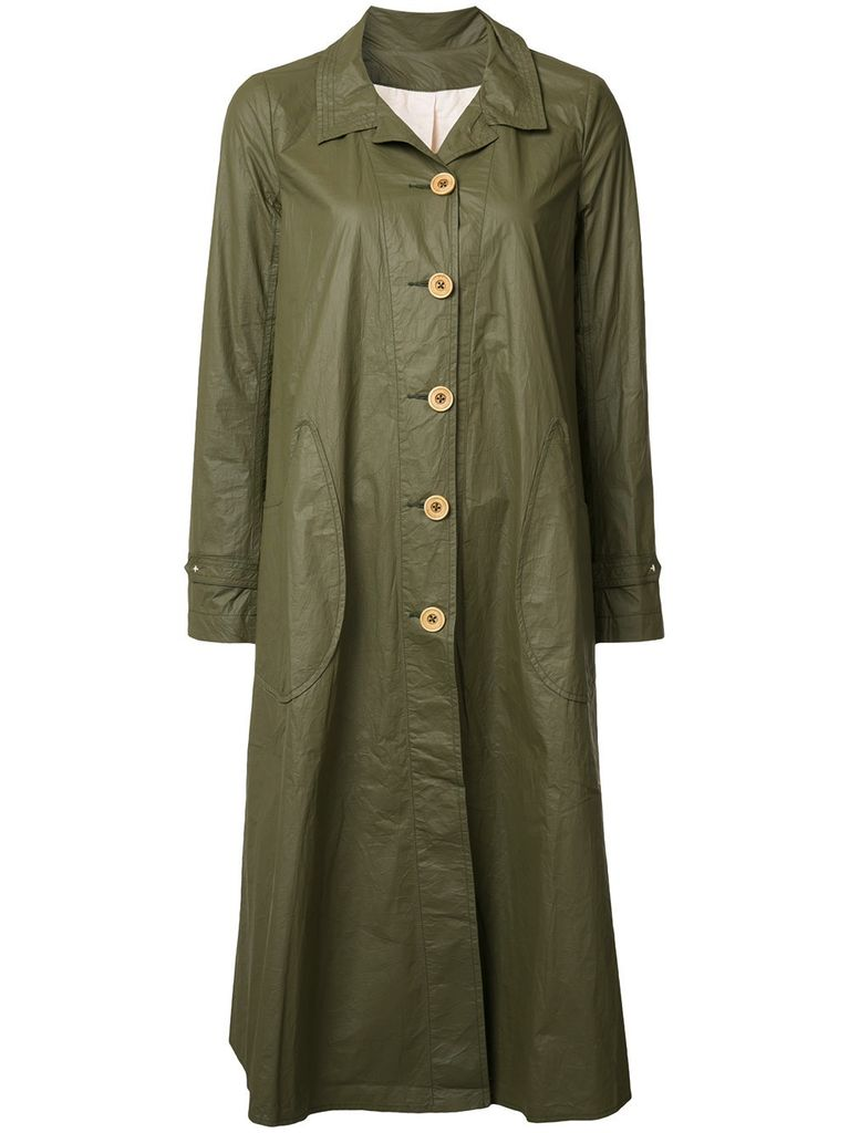 DEEPMOSS DEEPMOSS WOMEN TYVEK LONG TRENCH COAT