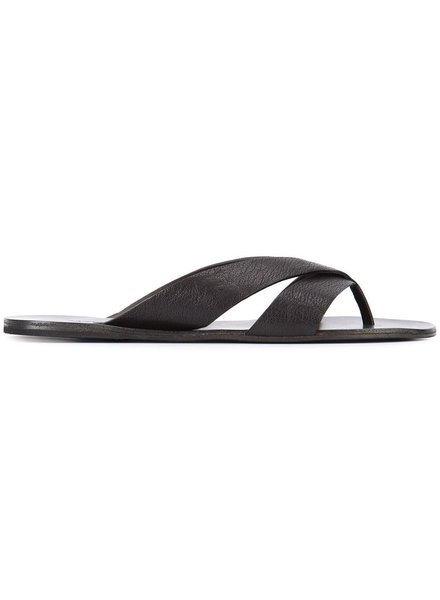 MARSELL MARSELL MEN BUFFALO LEATHER FLIP FLOP