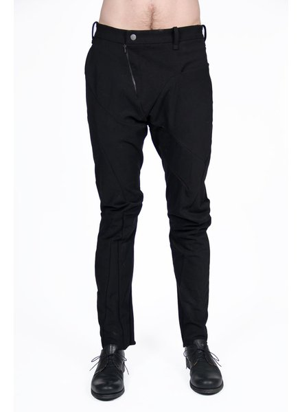 LEON EMANUEL BLANCK LEON EMANUEL BLANCK DISTORTION FITTED LONG PANTS IN HEAVY MILITARY CANVAS