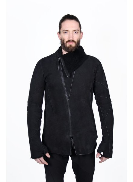 LEON EMANUEL BLANCK LEON EMANUEL BLANCK DISTORTION STRAIGHT JACKET IN SHEARLING W/ GLOVES