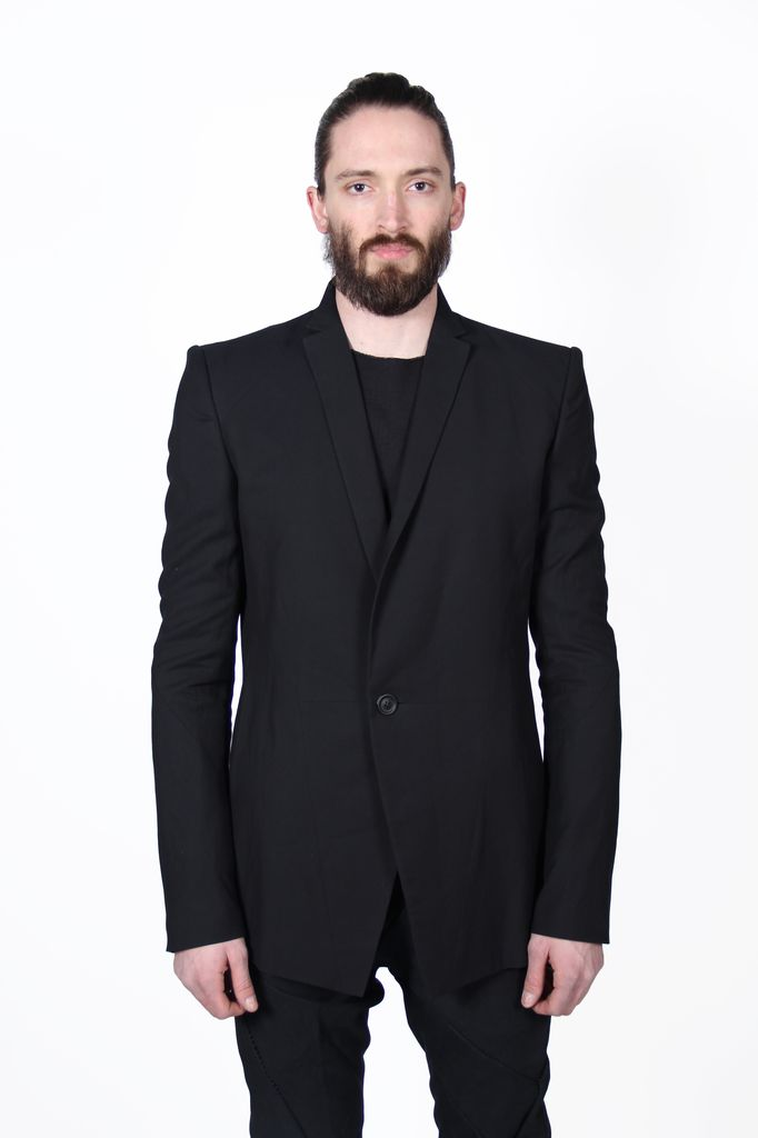 JULIUS JULIUS ONE BUTTON WOVEN MEN JACKET