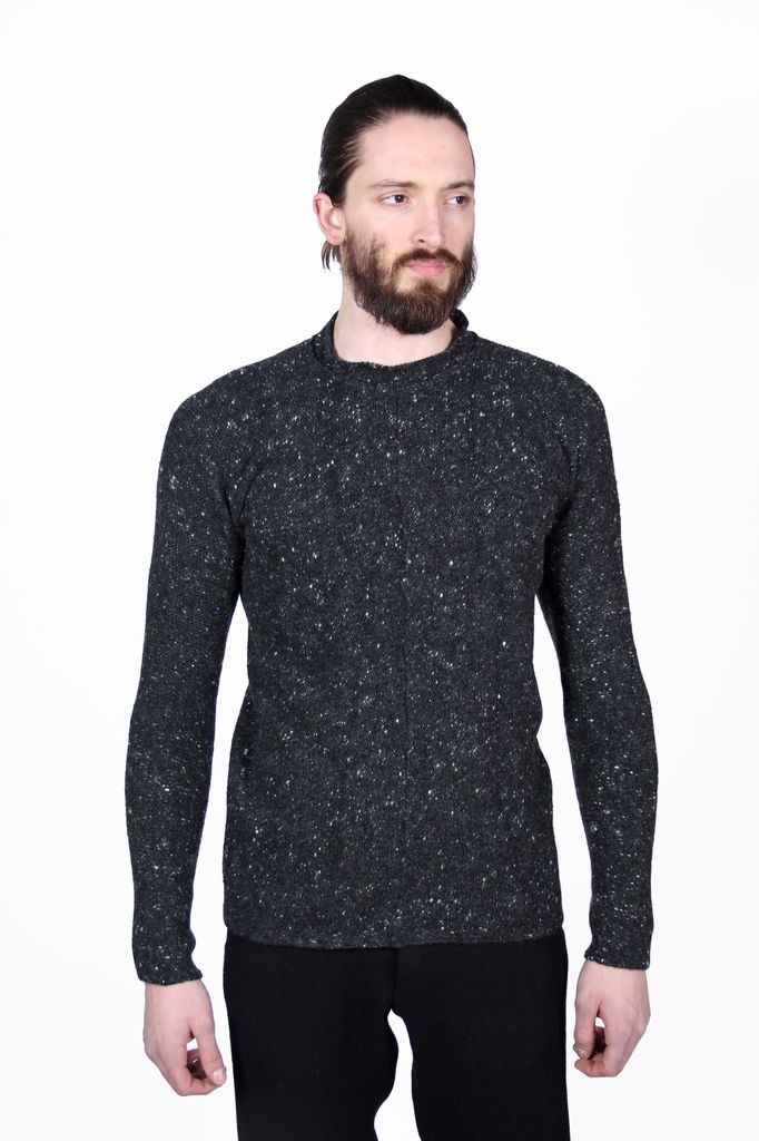 MA+ MA+ MEN ROUND NECK CROSS PULLOVER