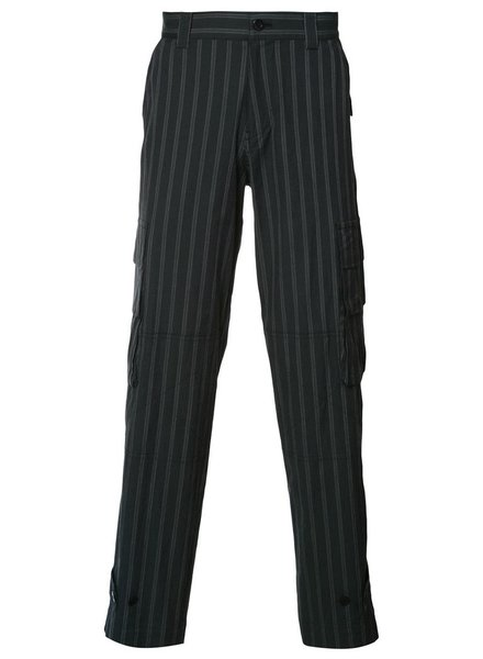 UNDERCOVER UNDERCOVER MEN CARGO POCKETS STRIPED PANTS