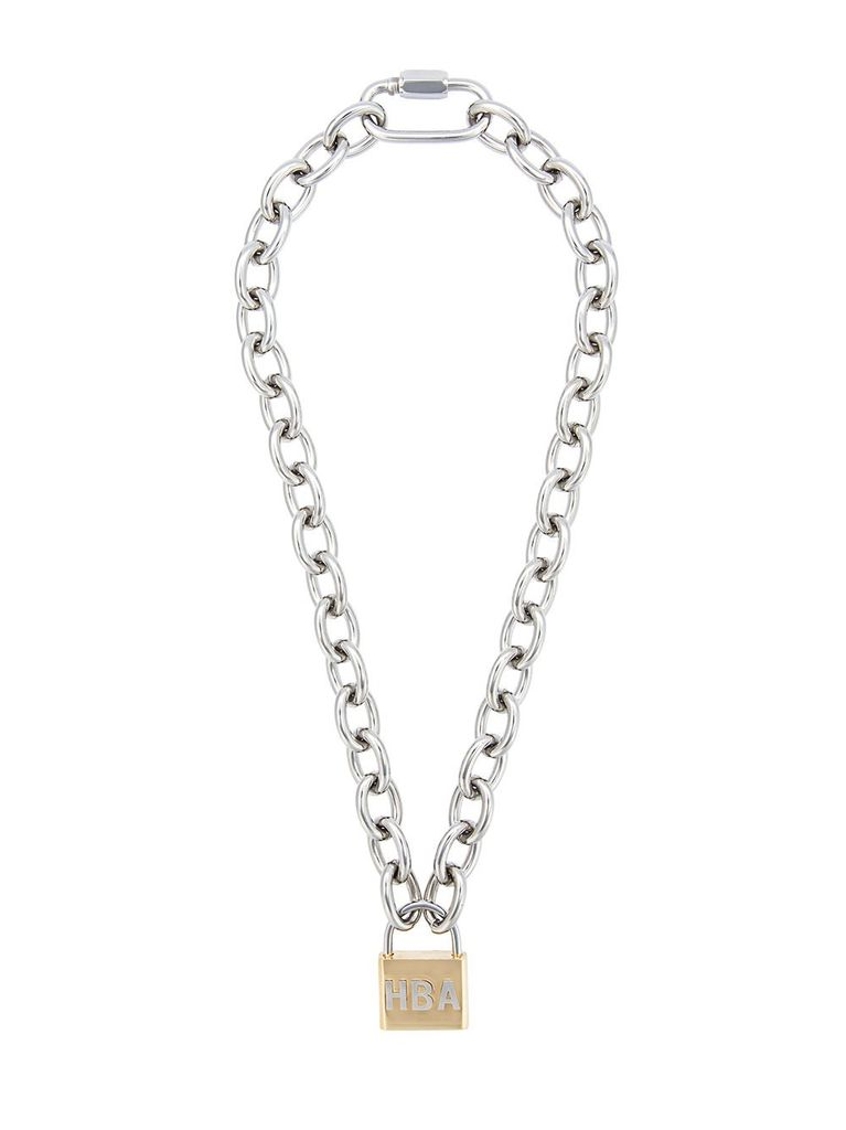 HOOD BY AIR CHAIN LOCK NECKLACE