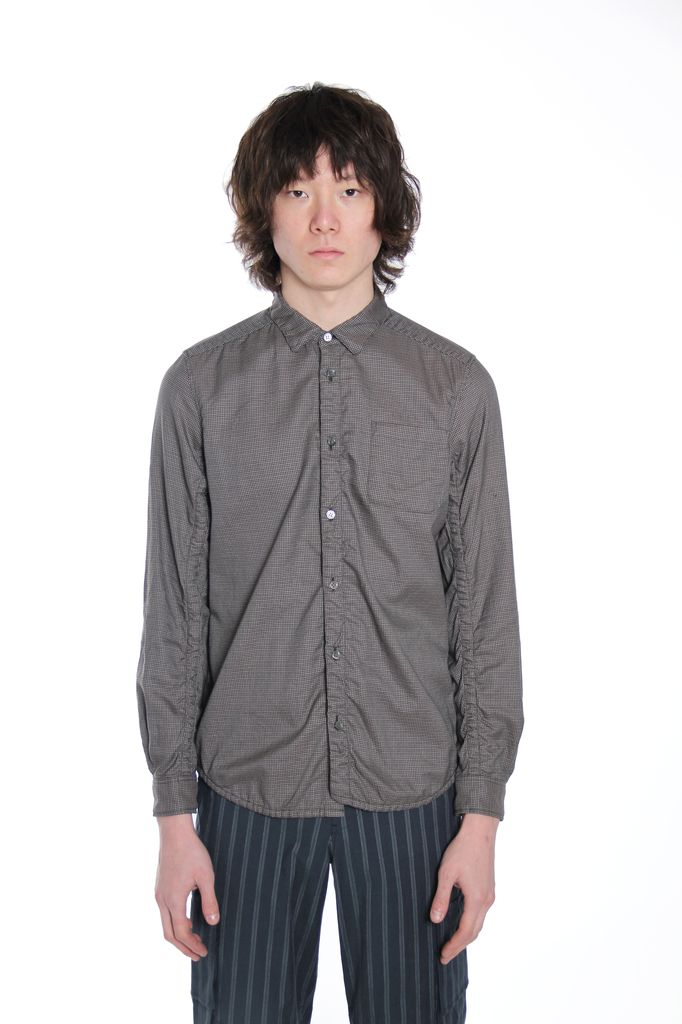 UNDERCOVER UNDERCOVER MEN SEAM DETAIL CHECKED SHIRT